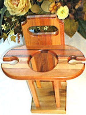 Deluxe Craved Wood Wine Caddy, $54.98