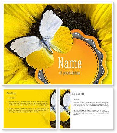 http://www.poweredtemplate.com/11322/0/index.html Butterfly on Sunflower PowerPoint Template