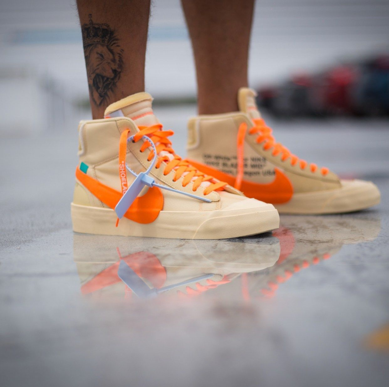 cable Pilar Arriba  Off-White Nike Blazer All Hallows Eve on feet look #Sneakers | Off white  shoes, White nikes, Off white blazer