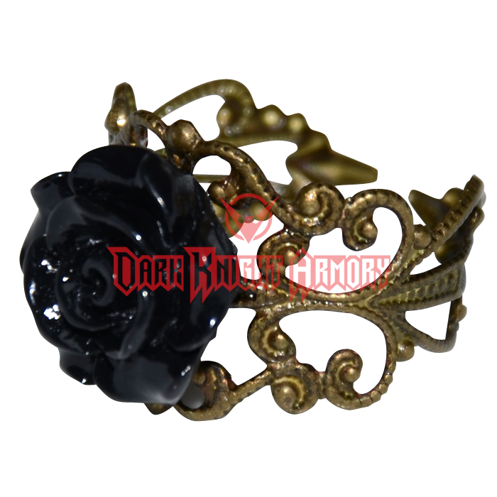 Black Rose Antique Ring - LB281 from Dark Knight Armoury