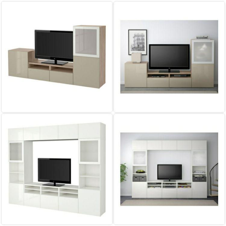 Ikea Besta Einheiten in die Inneneinrichtung kreativ integrieren - Wohnzimmer Ikea Besta