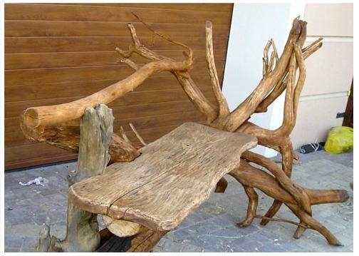 мебель из коряг своими руками фото