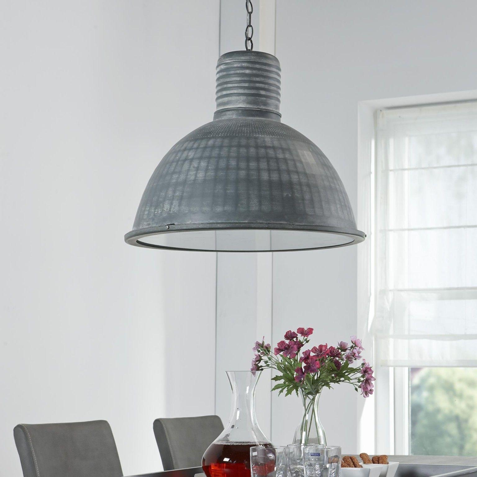 Industrile Hanglamp Constance 52cm kleur grijs