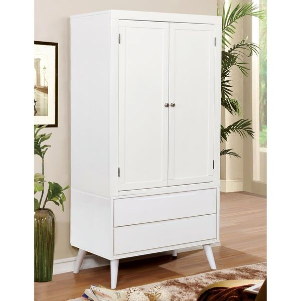 1000 73 Inches High X 36 Wide 22 Deep Furniture Of America Corrine Mid Century Modern 2 Drawer Double Door Bedroom Armoire