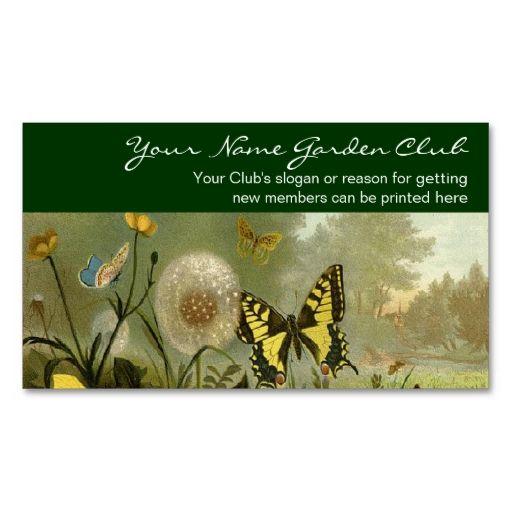 Garden Club Vintage Nature Theme Business Card Zazzle Com Garden Club Customizable Business Cards Theme