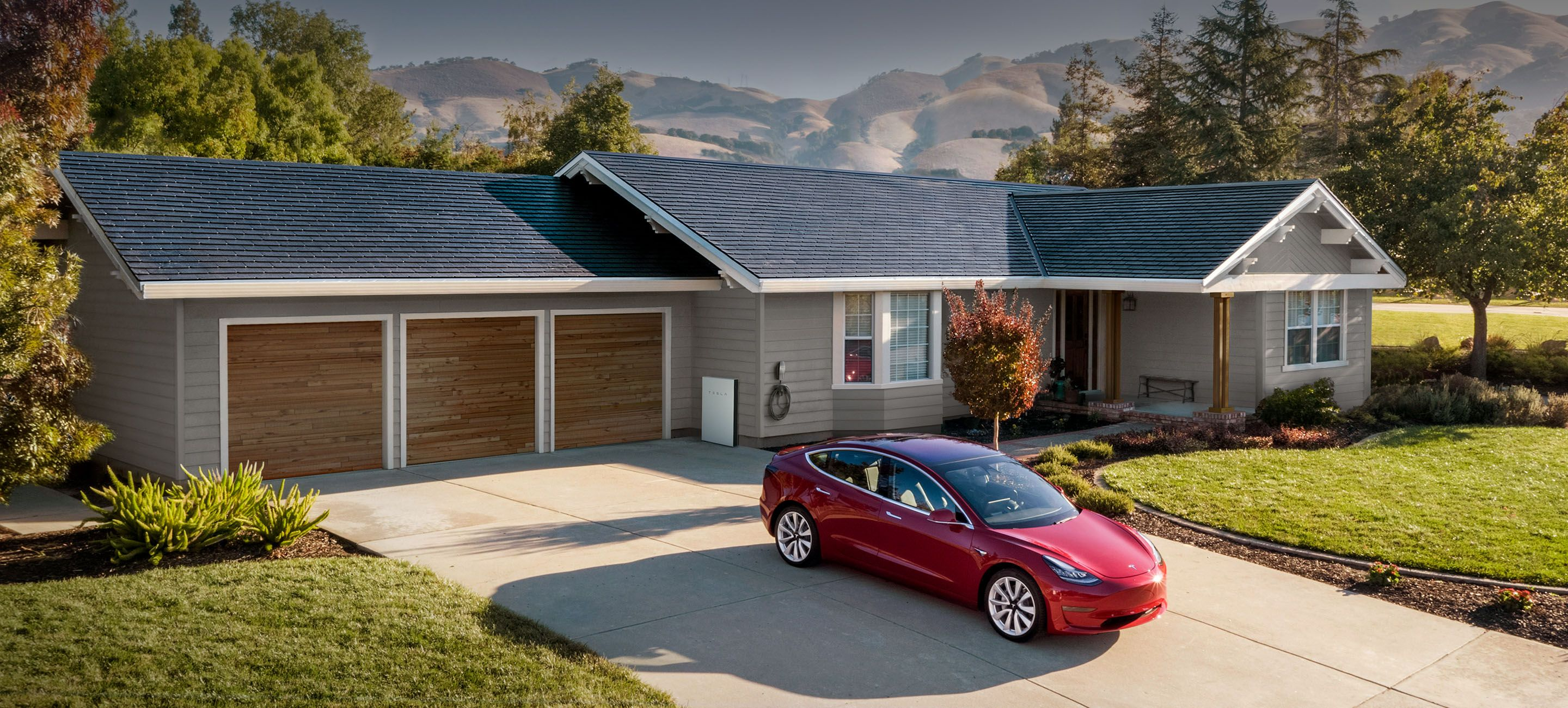So Kool Tesla Has Solar Powered Roof Tiles That Look Like Tiles To Power Your House Don T Forget That Tesla Solar Roof Solar Panels Roof Solar Shingles