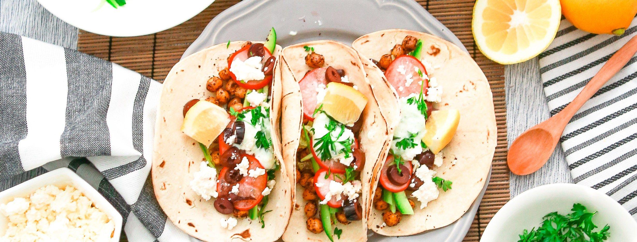 Veggie Chickpea Tacos In