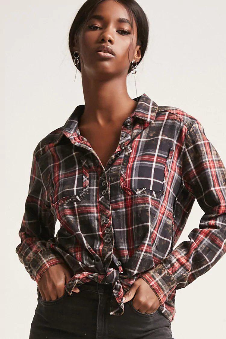 Flannel shirts 1990s  Product NameVintage Havana Plaid Shirt CategoryCLEARANCEZERO