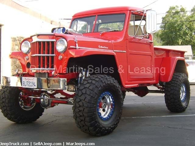 Lifted Willys Jeep Pickup Truck For Sale Cab Over Engine Semi