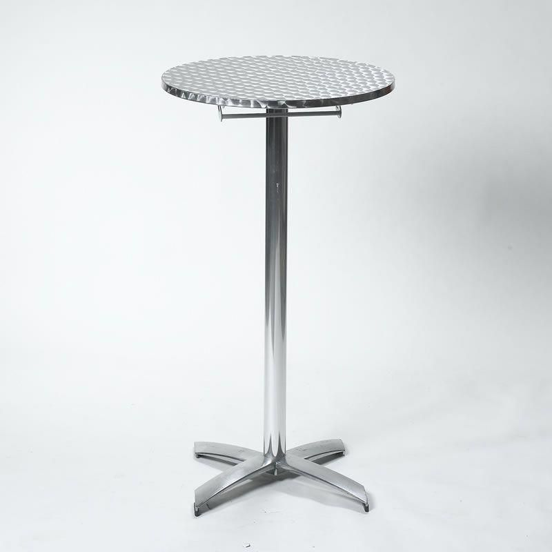 Brushed Aluminum High Top Tails Great Modern Look No Linens Needed Hightoptables