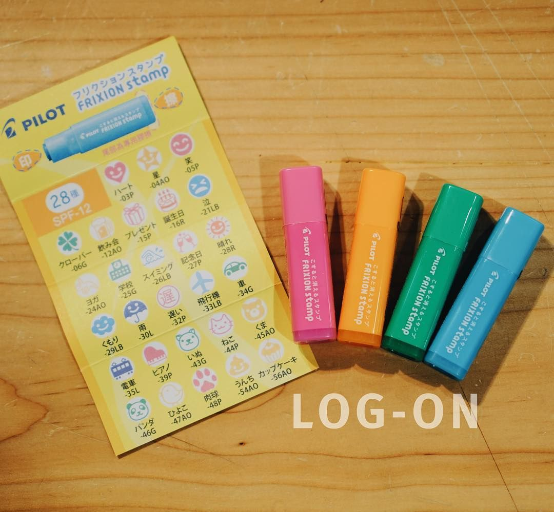 Frixion Stamps Finally Arrived Log On Thanks To Pilot Hk Trying To