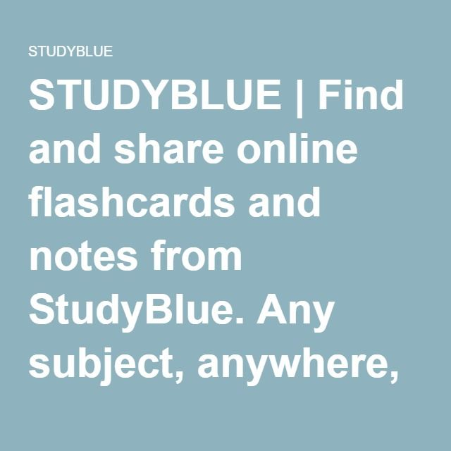 AP Insight StudyBlue Flashcards learning everyday Pinterest - studyblue