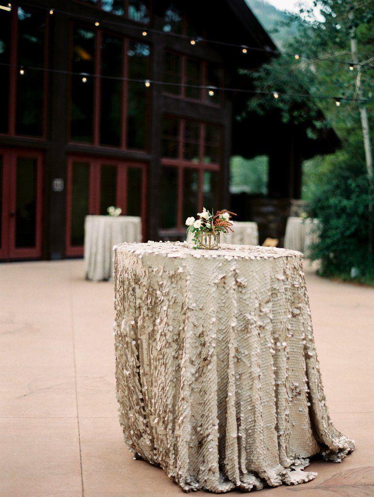Matte Sequin Tablecloth Champagne Sequin Table Linen Sequin