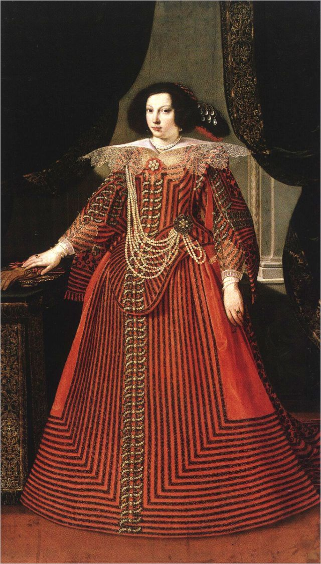 Portrait of Maria Caterina Farnese by Matteo Loves, c. 1630s-40s