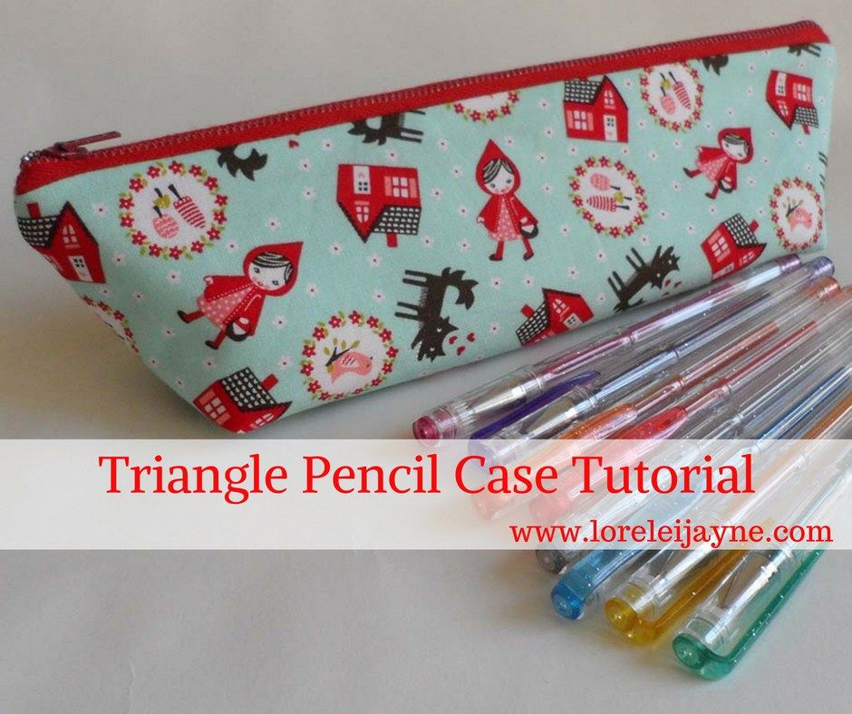 Triangle Pencil Case Tutorial | totes and pouches | Pinterest