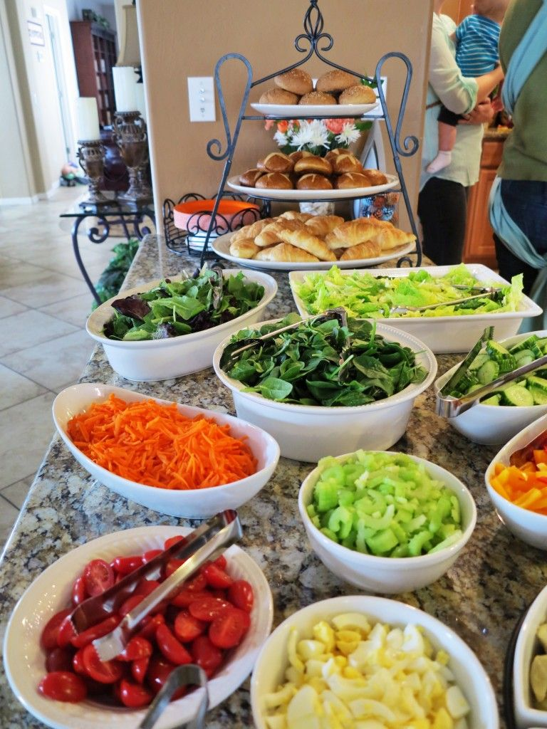 Salad bar yum party ideas pinterest salad bar for Food bar party ideas