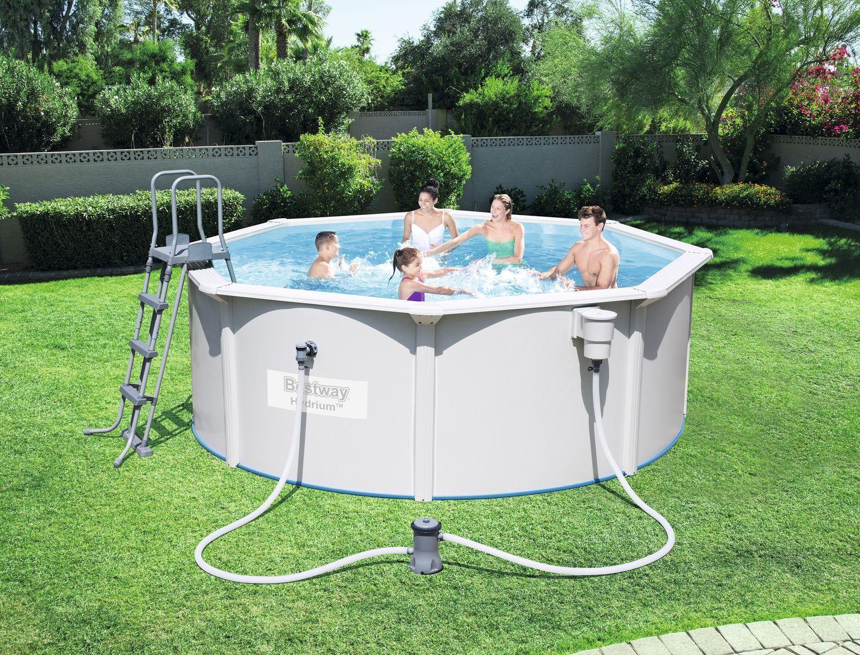 Hydrium Stahlwandpool Set O360x120cm Hydrium O360x120cm Set Stahlwandpool Bestway Pool In Ground Pools