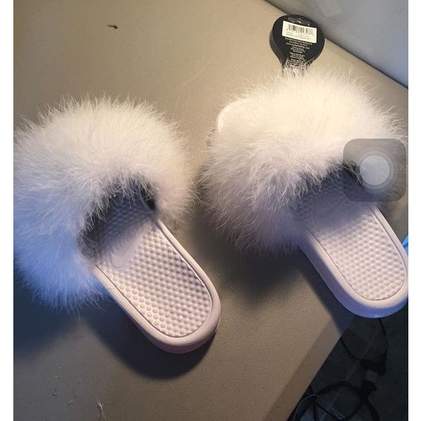 Nike Fur Slides (many colors available) ($40) ❤ liked on Polyvore featuring