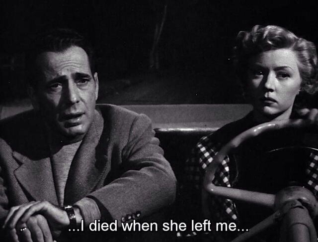 Humphrey Bogart And Gloria Grahame In A Lonely Place 1950