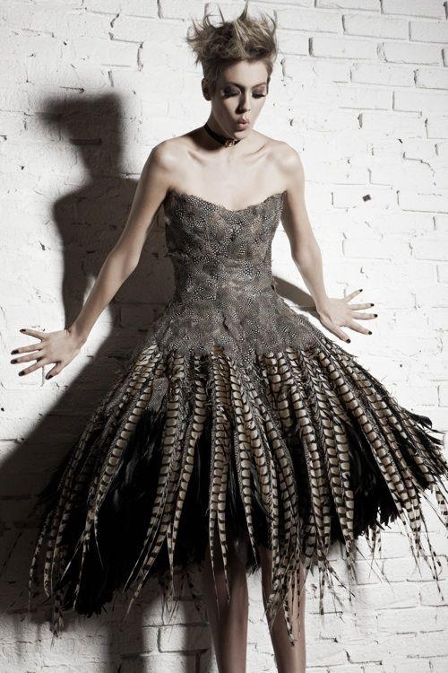 irina shabayeva mini bustier feather dress vintage cameo