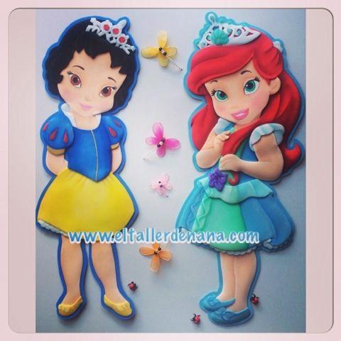 El Taller de Nana: Princesas de Disney Blancanieves y Ariel en ...
