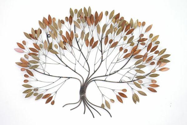 Id es de d coration murale en fer for Decoration murale arbre metal