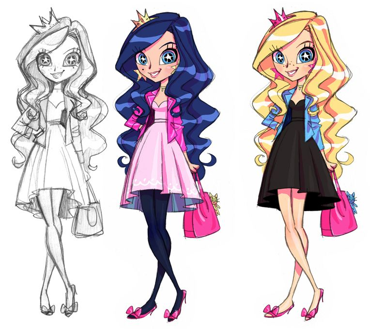 The Is Early Concept Art Of Iris From Lolirock Found At