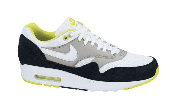 new product 7c26e 448d8 Nike Air Max 1 Essential White Black Neon Yellow