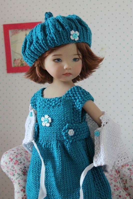 Knitted dress, cardigan & beret                                                                                                                                                                                 Plus