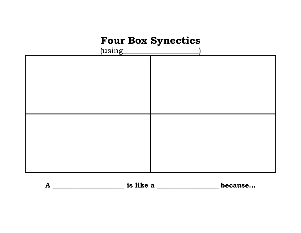 Image Result For 4 Box Synectics