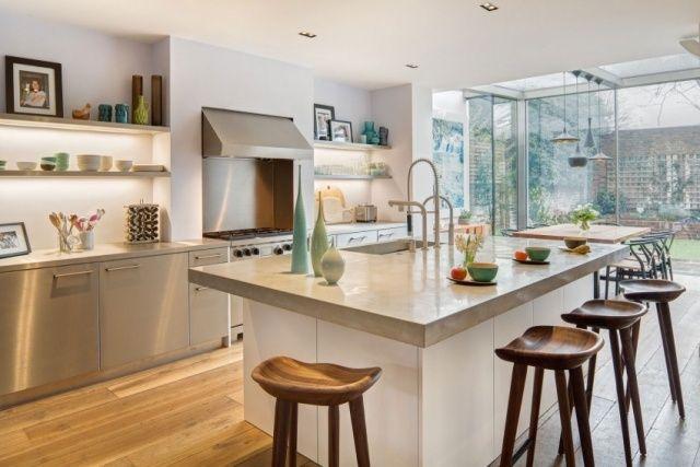 Cuisine avec îlot central ou bar en 111 idées merveilleuses - cuisine avec ilot central et table