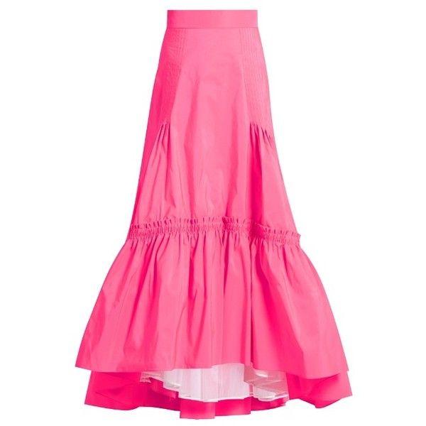 Peter Pilotto Tiered taffeta maxi skirt (92,030 INR) ❤ liked on ...
