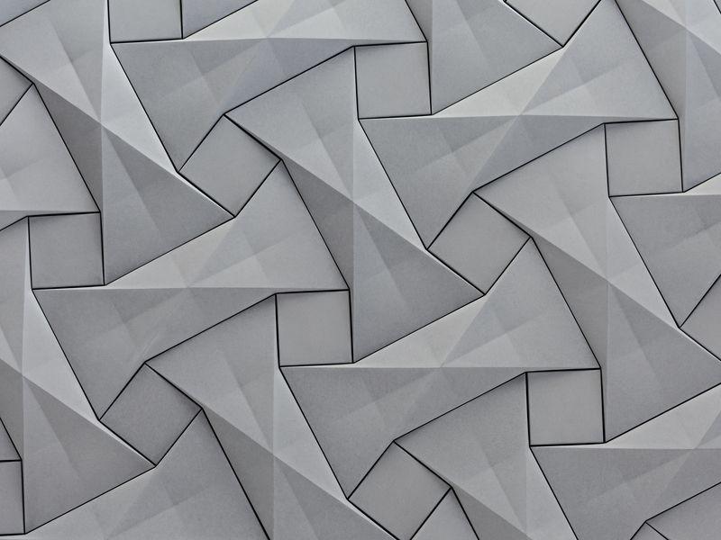 KAZA Concrete s contemporary concrete tile design  Quadilic  by origami  artist. KAZA Concrete s contemporary concrete tile design  Quadilic  by