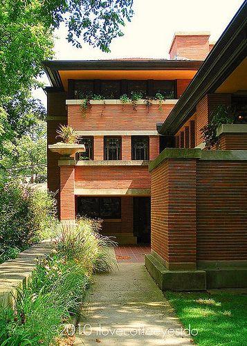 Frederick C Robie House 1909 Hyde Park Chicago Illinois