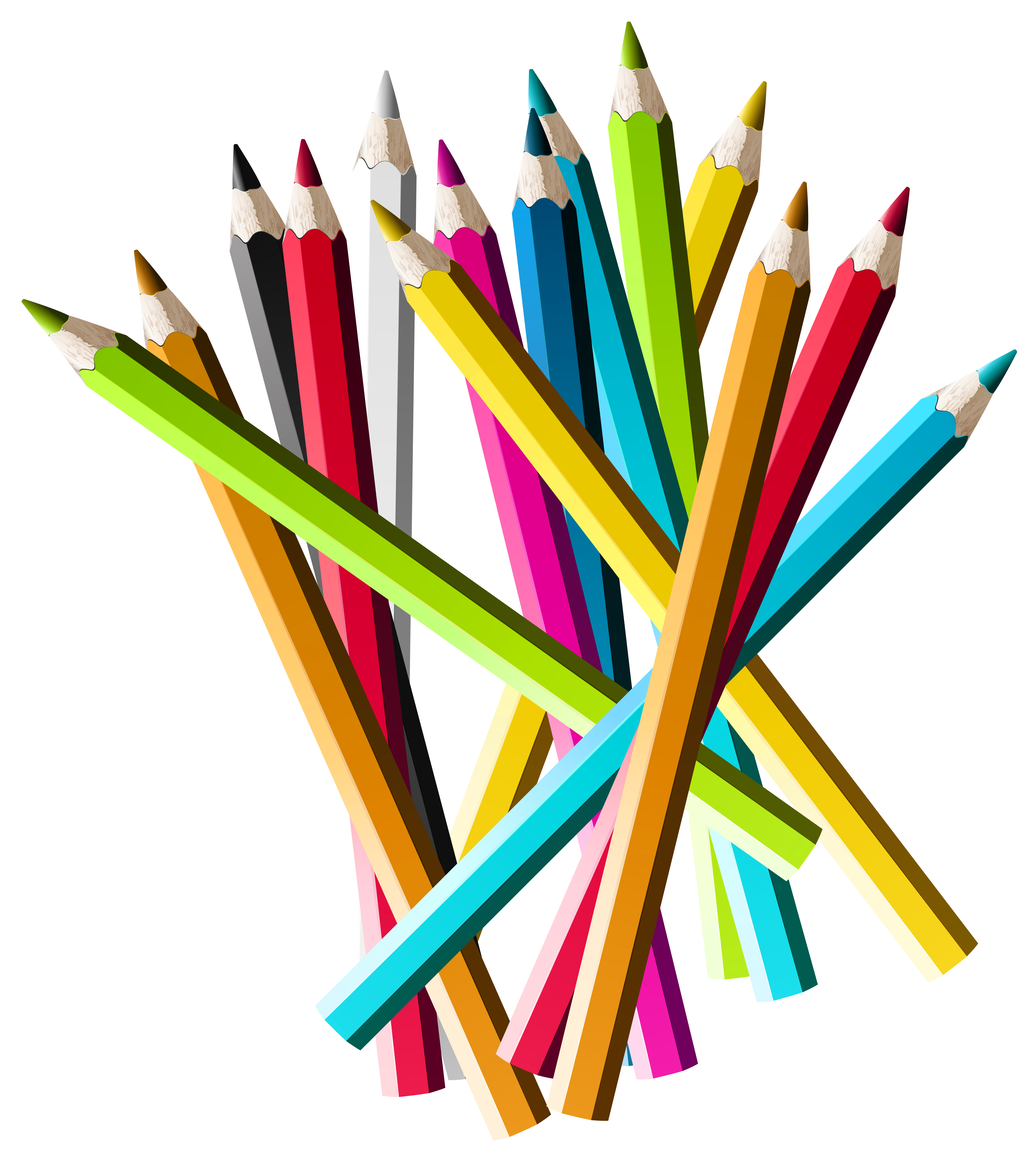 Colorful Pencils Png Clipart Picture Gallery Yopriceville High Quality Images Pencil Png Colored Pencils Pencil Clipart