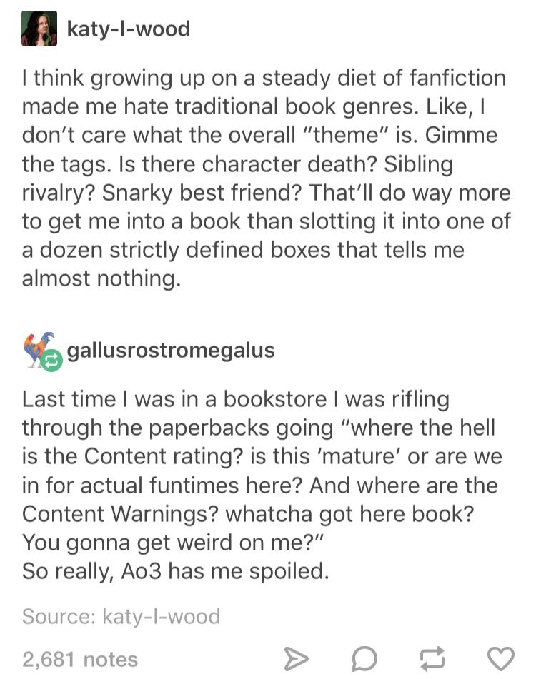 Book shopping vs fanfic>>> this is too real for me, normal