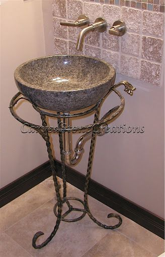 The Royale Pedestal Vessel Stand Is Made Of Wrought Iron And Features A  Decorative Vessel Holder