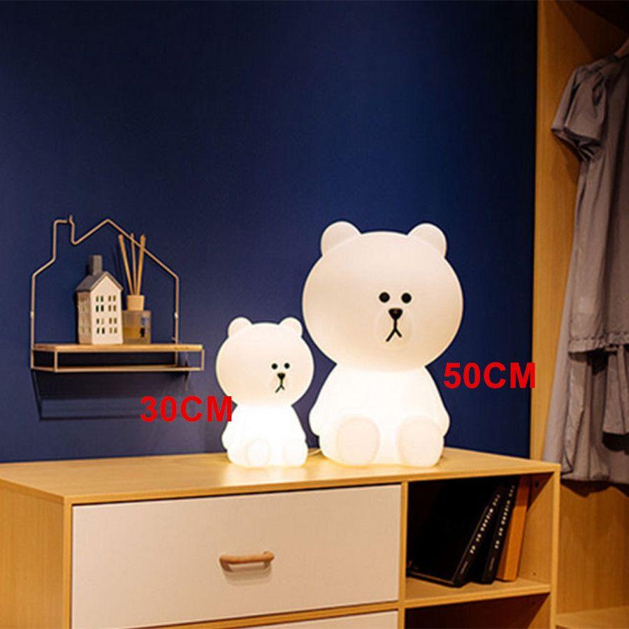 Dimmable Led Night Light Baby Children Kids Gift Animal Cartoon Decorative Lamp Bedside Bedroom Living Room