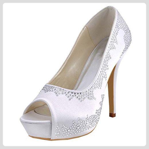 Kevin Fashion , Damen Hochzeitsschuhe , Weiß Weiß Weiß