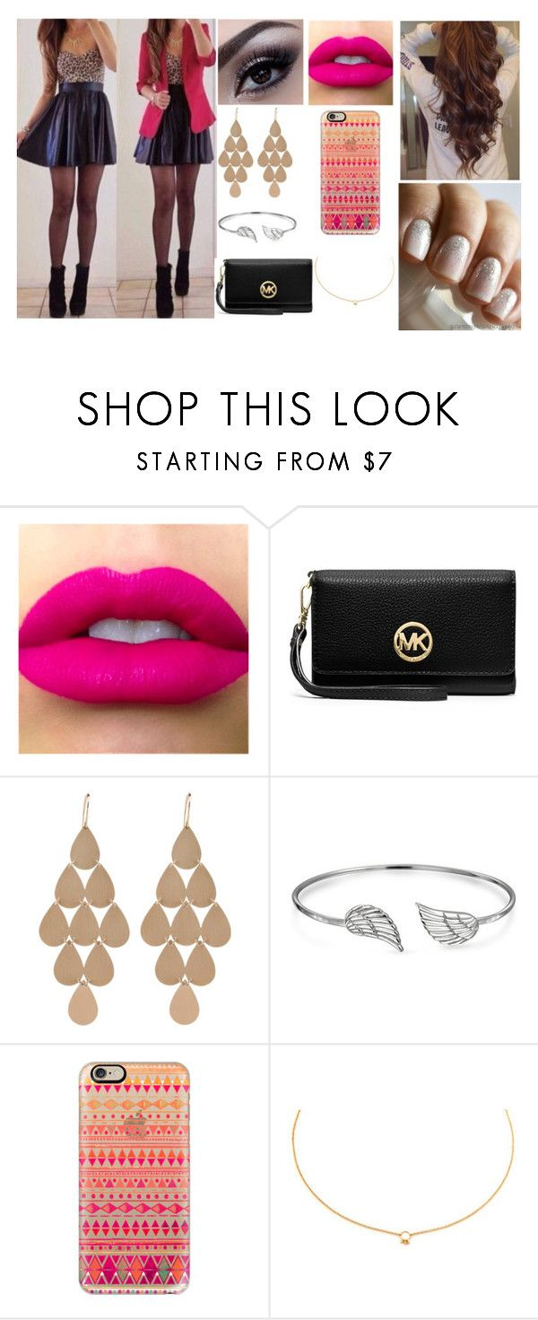 """Look#50"" by allicefaleta ❤ liked on Polyvore featuring MICHAEL Michael Kors, Irene Neuwirth, Bling Jewelry, Casetify and Agnes de Verneuil"