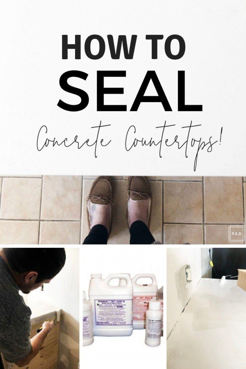 Concrete Countertops Kitchen Tiles Countertops Seal How To Seal