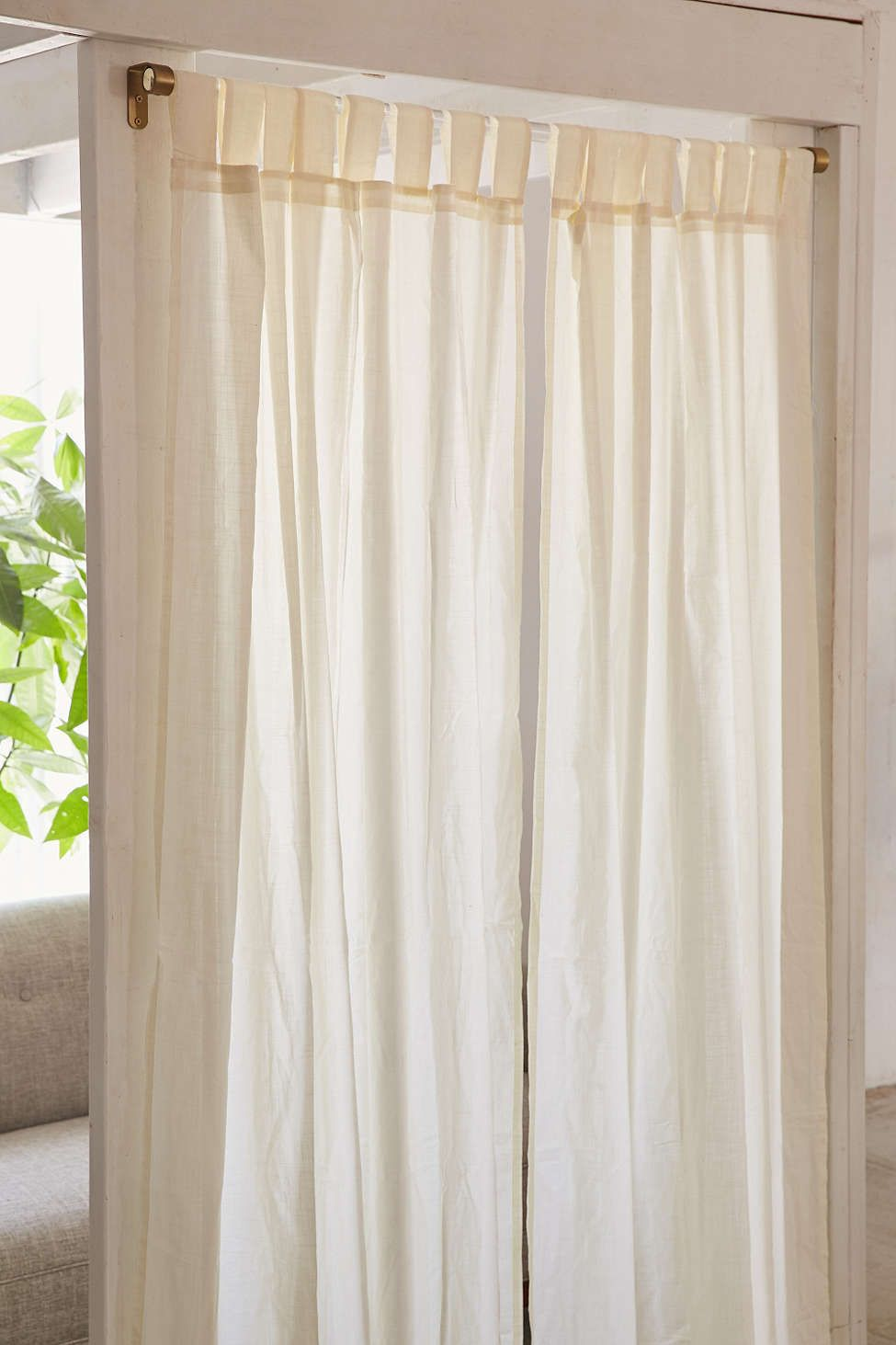 Acrylic curtain rod - Assembly Home Acrylic Curtain Rod