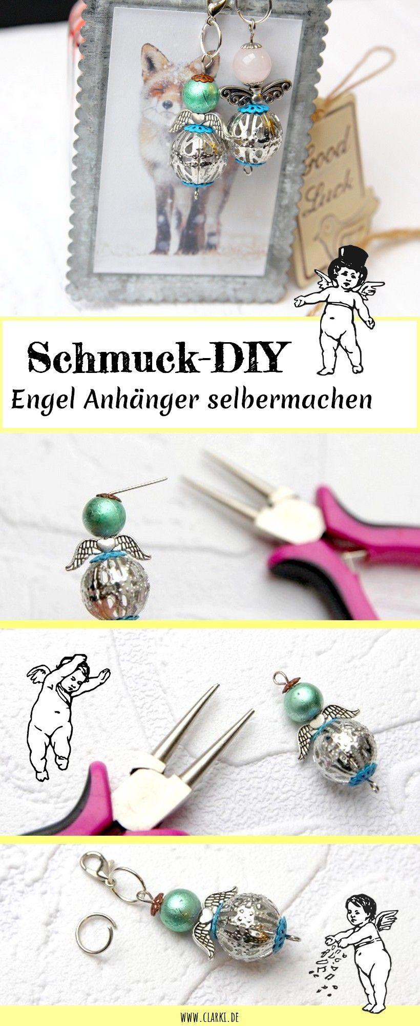 schmuck diy: engel anhänger aus perlen einfach selbermachen   diy