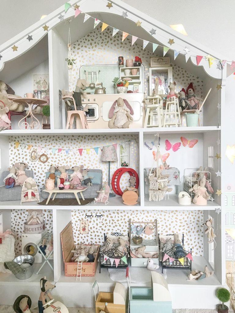 Our Maileg Dollhouse Doll Beds Diy Dollhouse Mini Bunting