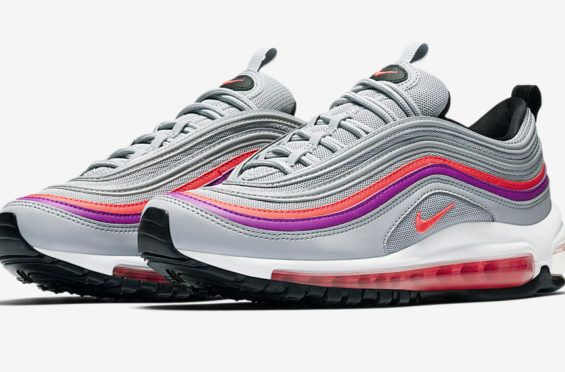 3d3eb66f023d72 Nike WMNS Air Max 97 Wolf Grey Solar Red Coming Soon The Nike WMNS Air Max
