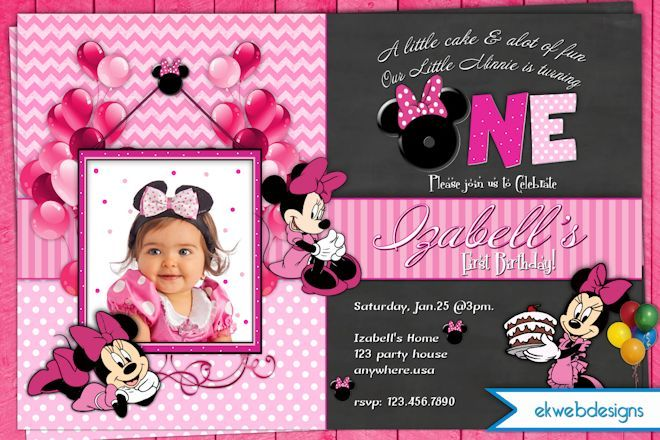 Minnie Birthday Invitation, Pink Polka Dot Minnie Mouse Invitation - fresh birthday invitation of my son