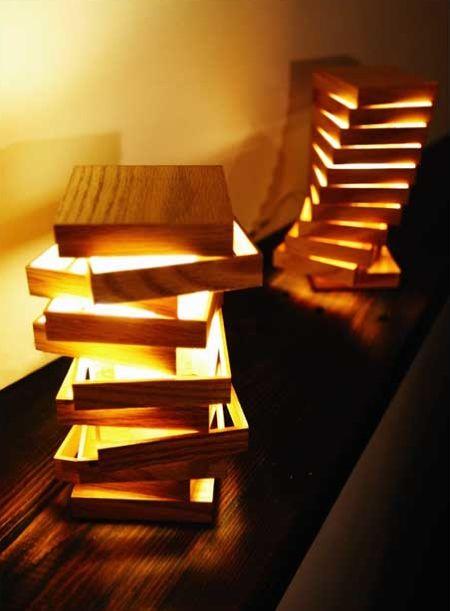 lampe en bois modulable cubix madera muebles en madera y muebles madera. Black Bedroom Furniture Sets. Home Design Ideas