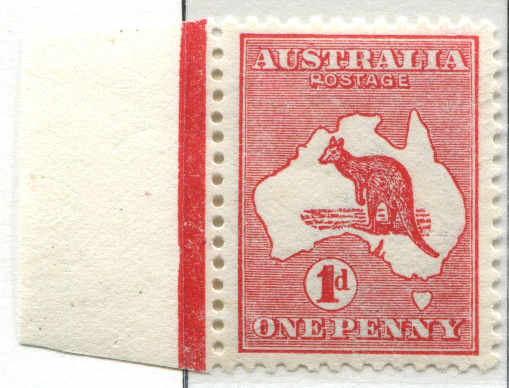 1913 1 penny Kangaroo & Map | Stamps: Australia | Pinterest | Kangaroos