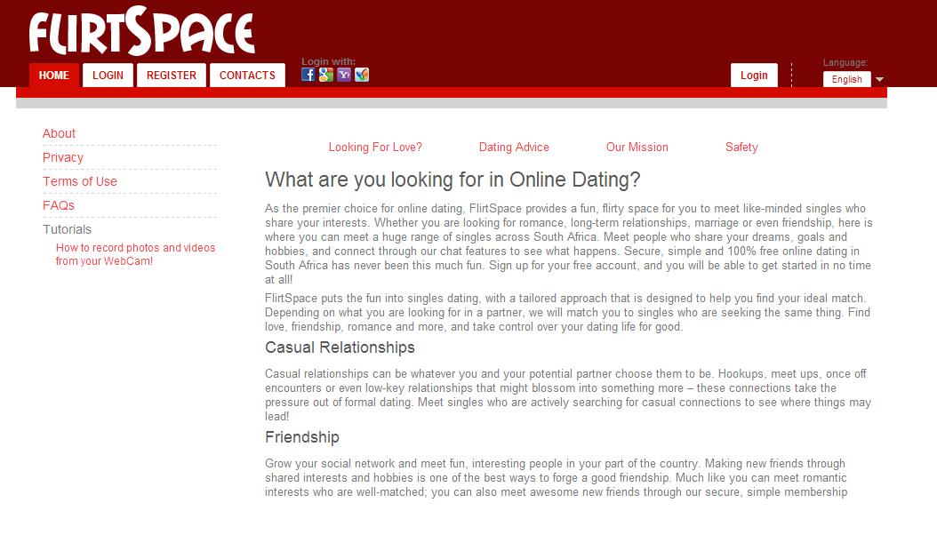 online dating interests