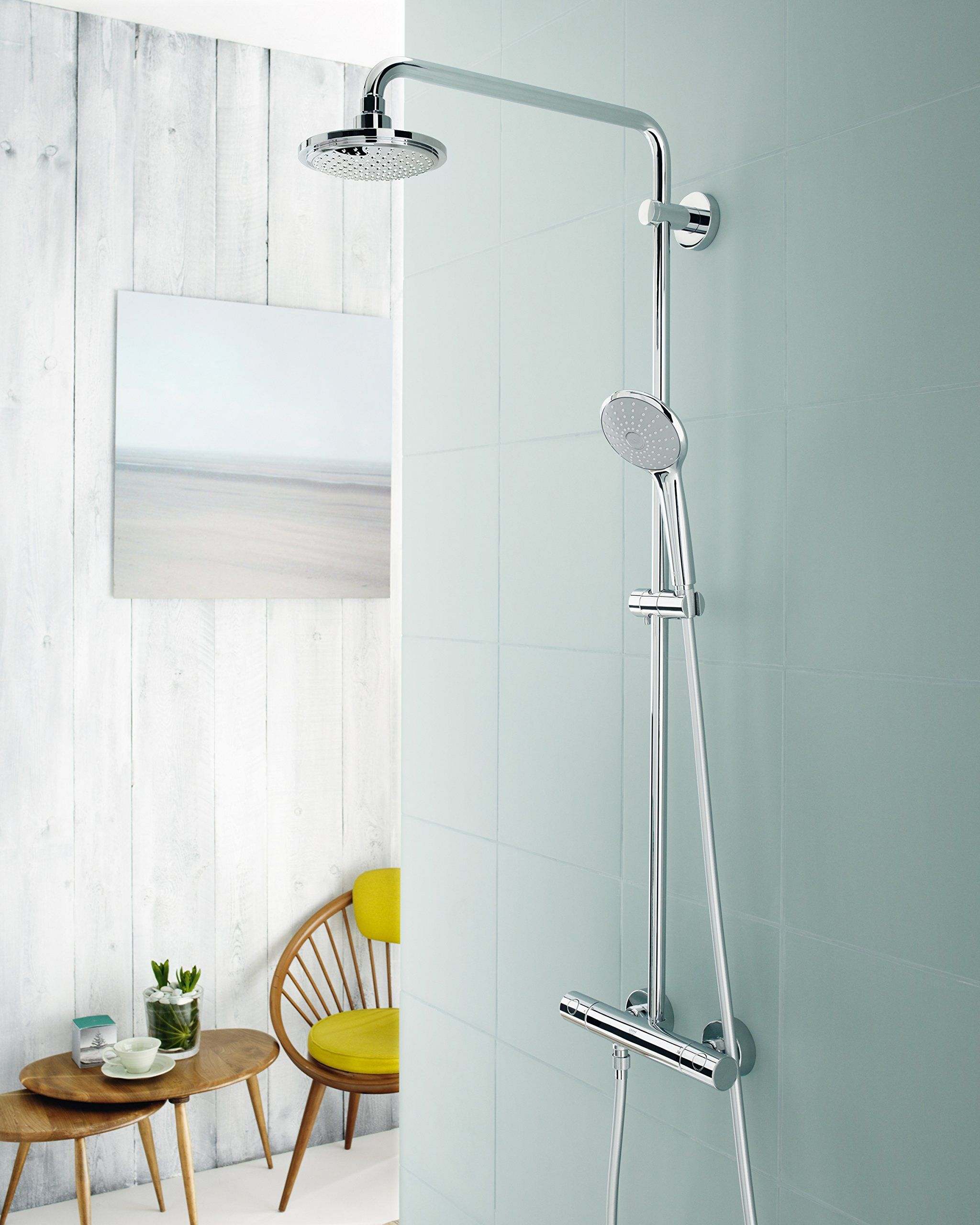 Grohe 26128000 Euphoria Shower System with Shower head and Hand ...